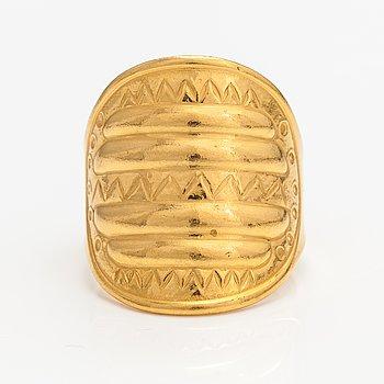 "A gold plated bronze ring ""Perniö-ring"", model 111. Kalevala Koru, Helsinki."