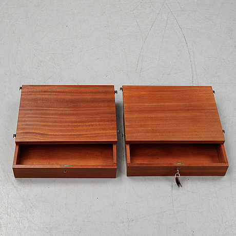 A pair of 1950's-60's wall shelves.