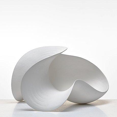 "Eva hild, a white stoneware sculpture ""skärva"", sweden 2006."