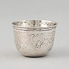 A russian silver tumbler, 18th century.