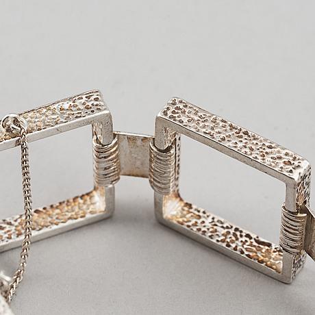 Armband, 2 st, silver, bl a danmark.