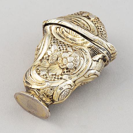 A gilt silver rococo box, denmark or norway, second half of the 18th century.