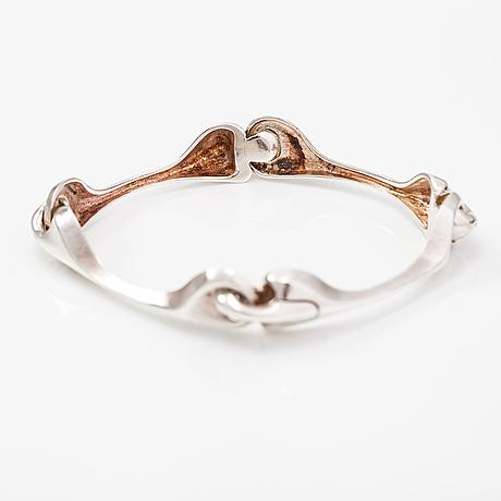 "Björn weckström, a sterling silver bracelet ""armilla"". lapponia 1977."
