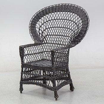 A wicker armchair, 20th Century.