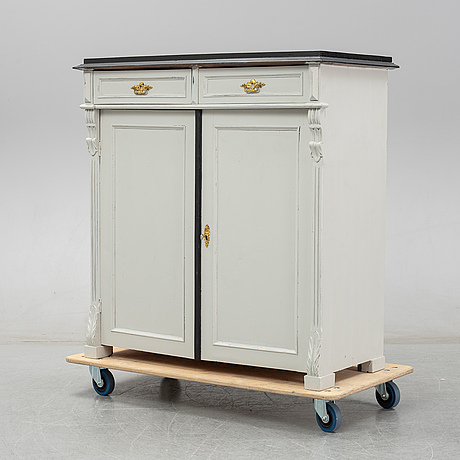 A painted sideboard, circa 1900.