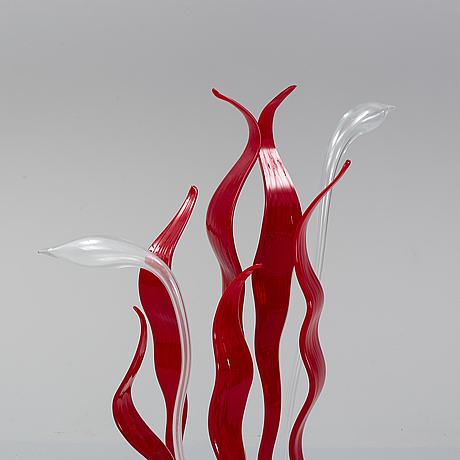 Diego chilò, a glass 'byblis' table light, leucos, italy.