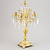 A a pair of victorian brass candelabra, late 19th century.