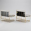 Two swedish shelves by gunnar ander, ystad metall, 1960's.