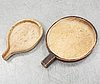 A pair of pine cheese molds, 19th century.