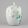 A famille rose jar with cover, china, 20th century.