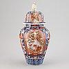An imari jar with cover, meiji period (1868-1912).