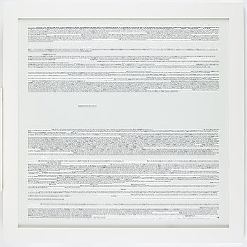 Martin Wickström, signed and dated 2010, numbered XL 1/25. Silkscreen on paper.