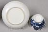 Tallrik samt kopp med fat, porslin, kina 1700-1800-tal.