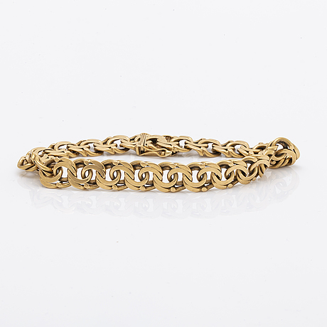 Bracelet 18k gold, 31,2 g, approx 20 x 1 cm, stockholm 1967.