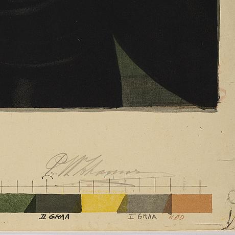 Peter wilhelm johanssen, efter c w eckersberg, chromolithograph.