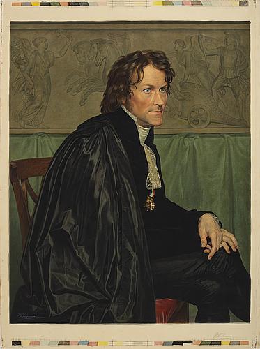 Peter wilhelm johannsen, peter wilhelm johanssen, efter c w eckersberg chromolitografi.