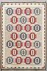 A swedish 20th century flat weave signed ca 204 x 139 cm.