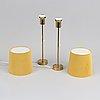 Apair of bergbom brass table lamps.