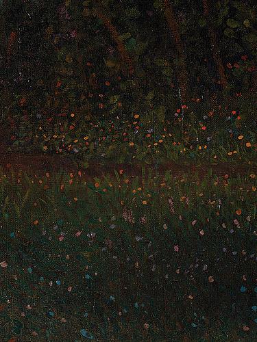Anshelm schultzberg, oil on canvas, signed a. schultzberg.