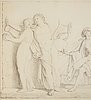 Unknown artist, perhaps danish , 19th century,pencil omn paper.