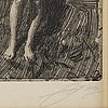 Anders zorn, etching, 1901, signed in pencil.