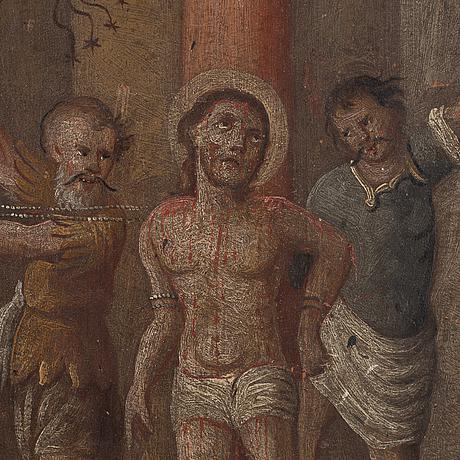 Okänd konstnär, olja på pannå, osignerad, 1700/1800-tal.