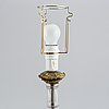 A pair of glass table lamps, probably russian, second half of the 19th century.
