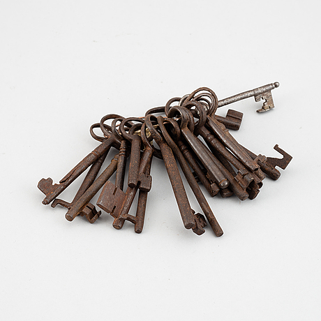 Twenty iron keys, 18th century.