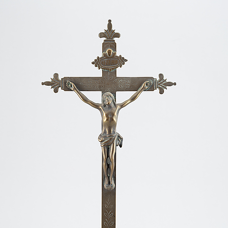 Krucifix, brons, 1600-/1700-tal.