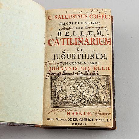 Five 18th century books.