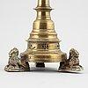 Ljusstake, brons, gotisk stil, 1800-tal.