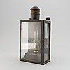 A 19th century tinplate lantern.