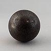 Three iron balls, 18th/19th century.