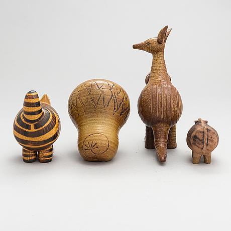 Lisa larson, four stoneware figurines for gustavsberg.