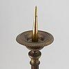 Ljusstakar, ett par, brons, 1700-tal.