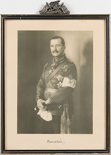 Framed print of mannerheim, marshal of finland. 1940s.