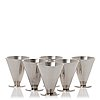Wiwen nilsson, a set of six sterling cocktail glasses, lund 1933-50.