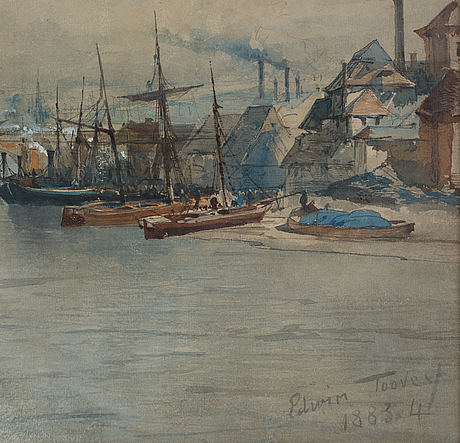 Edwin toovey, watercolour, signed and dated 1883-4.