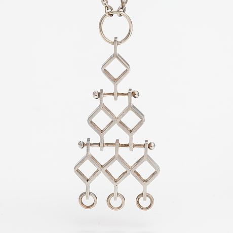 "Jorma laine, halsband ""ruutu"", silver. kultateollisuus, åbo 1967."