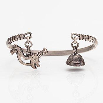 """A sterling silver bracelet """"Small bird"""". Kalevala Koru, Helsinki 1999."""