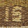 Ingegerd silow, a signed flat weave carpet ca 280 x 193 cm.