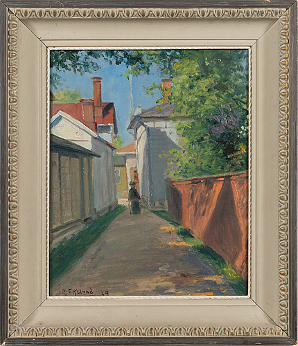 John rafael ekelund, oil on panel, signed and dated-34.