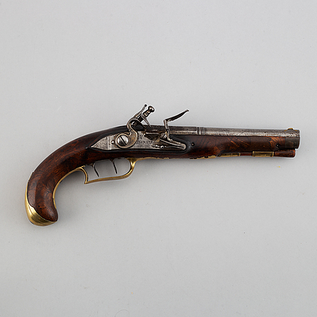 A flintlock pistol marked a regenspurg. second half of the 18th century.
