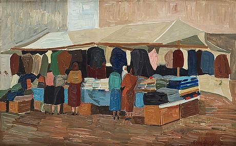 Sven ljungberg, oil on canvas, signed.