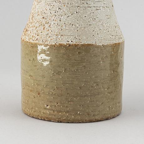 Three mid 20th century glazed stoneware vases, marianne westman, carl-harry stålhane och hertha bengtsson, rörstrand.