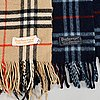 Burberry, a wool and a cashmere scarf.