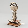 A swedish silver pocket watch stand, mark of william lyon gothenburg 1857.