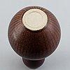 Stig lindberg, a stoneware vase from gustavsbergs studio, signed.