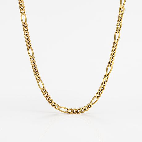 An 18k gold neckalce with stones. erling kaj oy ab, helsinki 1977.