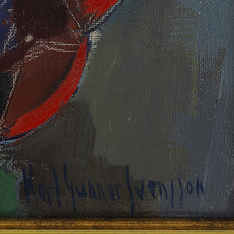 Karl gunnar svensson, oil on canvas/paper-panel, signed.